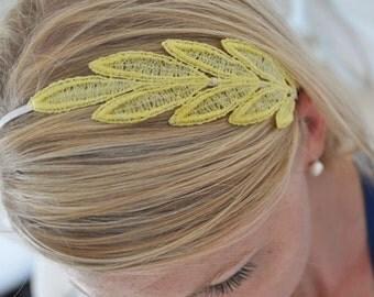 Lace Headband, lace leaf, bridesmaid headband, lace accessories, bridal headband, bridal party gift, easter headband,easter hair accessories