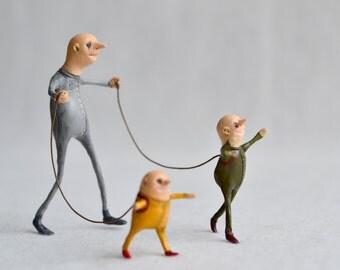 Edvard and the boys. - Minimal sculpture