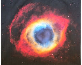 Helix Nebula 36x40 inches on Cotton Sateen Fabric