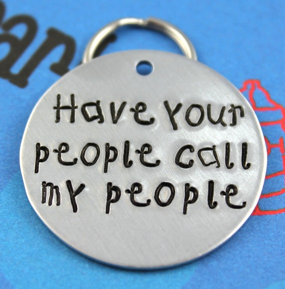 LARGE Dog Tag Personalized Handstamped Pet Tag By Critterbling
