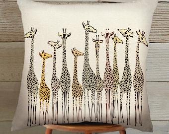 giraffe Suede Pillow Cover handmade