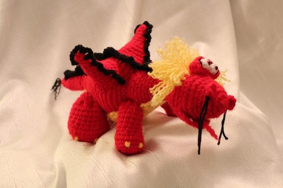 Amigurumi Chinese Dragon : Amigurumi Crochet Pattern Chinese Fire Dragon