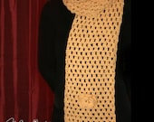 Gorgeous Crocheted Yellow Shawl with Flower Decorations / Cotton Scarf / Elegant and Warm Winter Scarf / Gift for Her