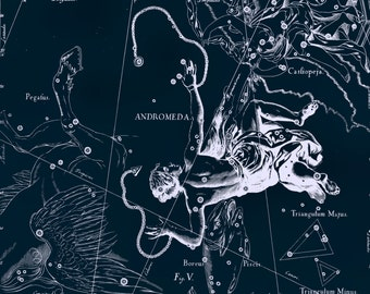 Constellation, Large canvas art, Star map, Constellation of Andromeda, 02