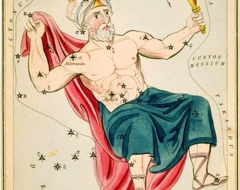 Constellation, Ancient maps, Moon poster, Constellation of Cepheus, 150