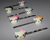 3 Adorable Kitty Bobby Pins You Choose The Color