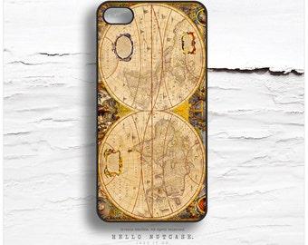 iPhone 6S Plus Case, iPhone 5C Case World Map, iPhone 5s Case Map, iPhone 6 Case, Antique Map iPhone Case, Globe iPhone 6S Plus Cover V26