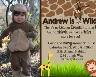 DIY Printable Safari Party Invite