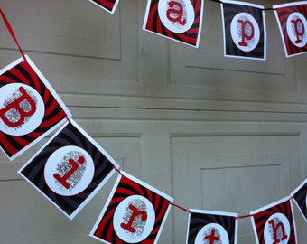 DIY Printable Spy Party Birthday Banner (INSTANT DOWNLOAD)