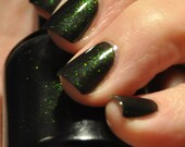 Number 1 Obsession by Piper Polish - Bright Green to Copper/Gold Color Shift Sparkle Topcoat - 7ml or 15ml