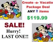 Any 8 items family Disney vacation create a package deal, DCL, Disney World, Disneyland