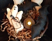Primitive Bats and Ghosts Bowl Fillers