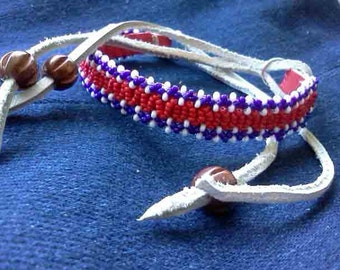 Authentic Native American Beaded Anklets and Bracelets