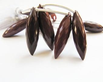 Jasper Beads, Mookaite Dew Drops, AAA, Micro Faceted, 19-22mm, Half Strand, 4 Jasper Beads