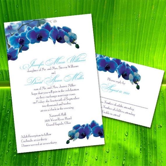 custom blue orchid wedding invitations by puttinontheglitz4u With wedding invitations blue orchids