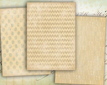 Digital Collage Sheet Printable Gift Tags Paper Craft Supply Aceo ephemera scrapbook - OLD PAPER CARDS