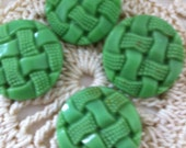 Very pretty vintage green glass buttons