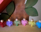 Choose 3 Tutu Girls, Eco friendly natural wood toys, TuTu cute PEG PEOPLE wooden toys from Treehouse Kids