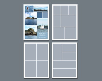 INSTANT DOWNLOAD - Storyboard Template, Photoshop Template - 5 x 7 - Template Pack - No.7
