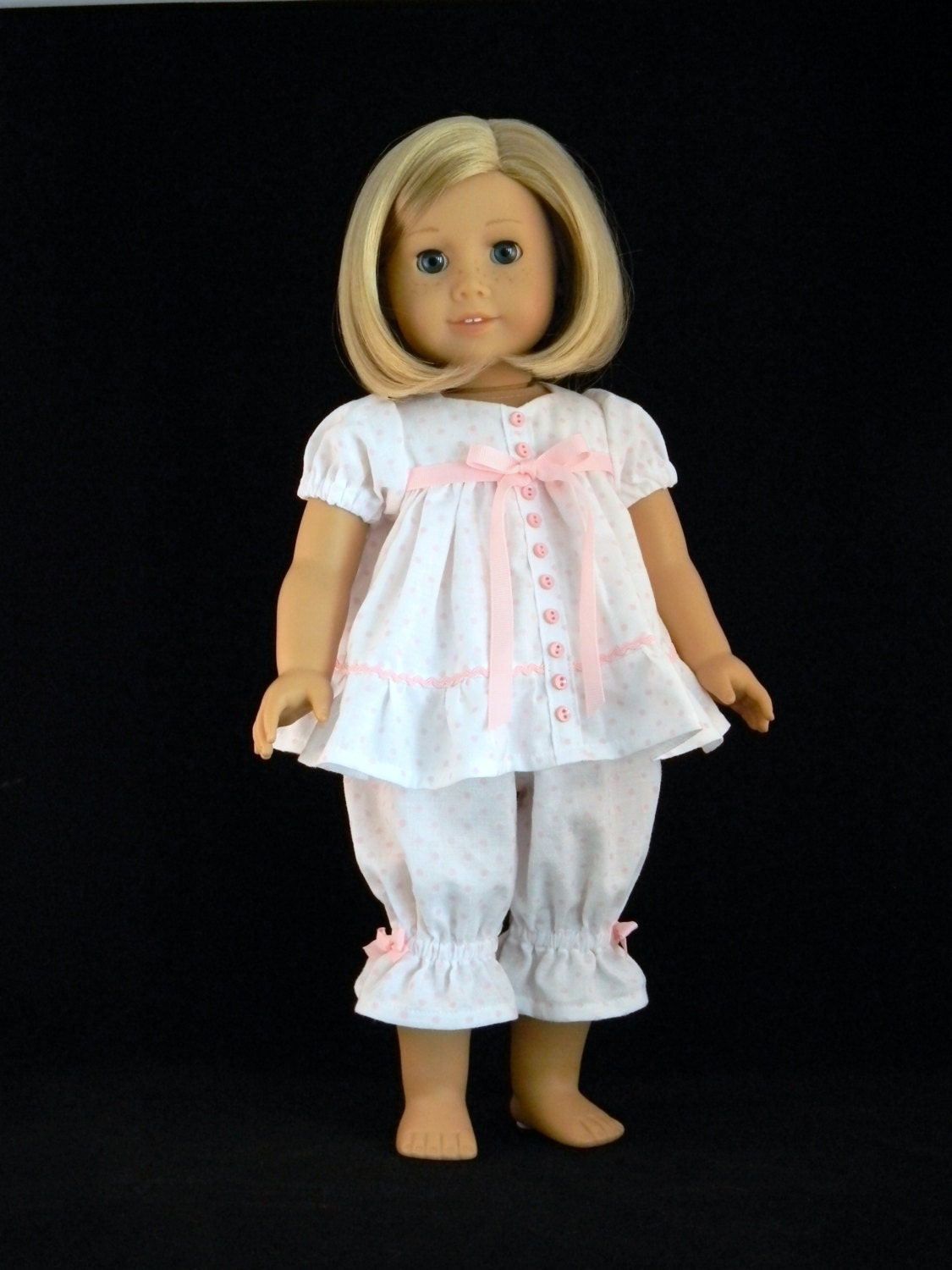 An 18 Year Old Woman Standing In Front Of A Mirror Stock: Baby Doll Pajamas For 18 American Girl Doll An