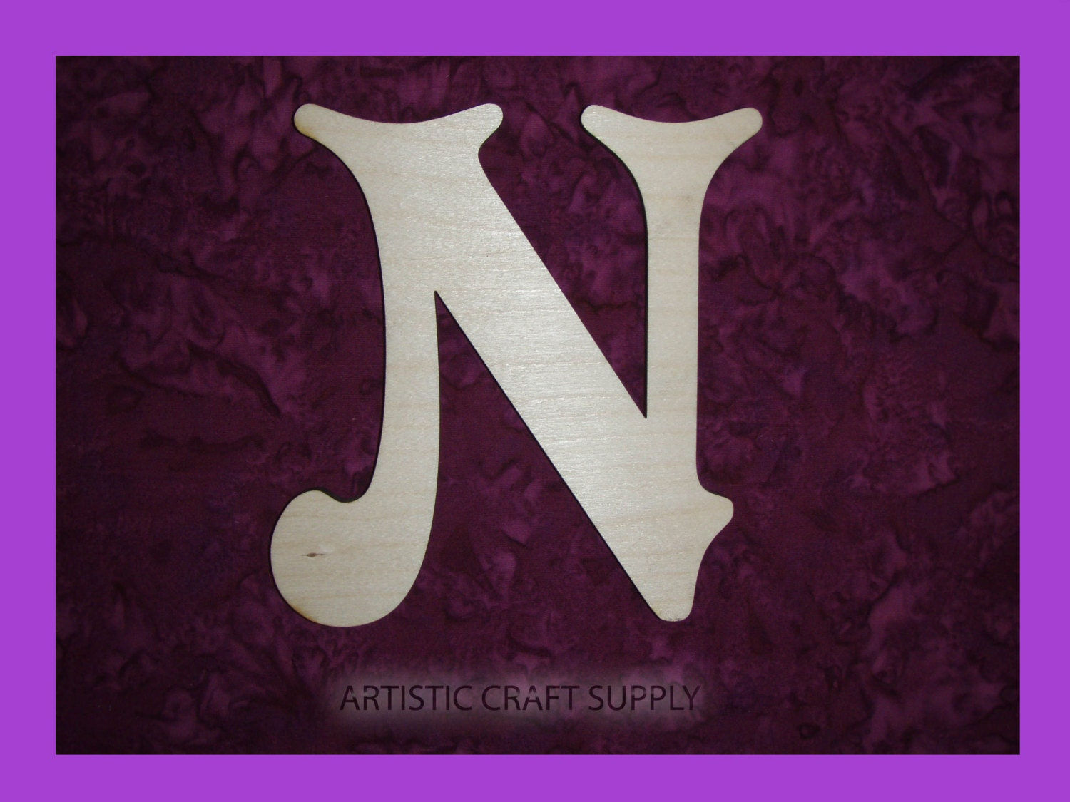 Unfinished Wood Letter N Wooden Letters 6 Inch Tall