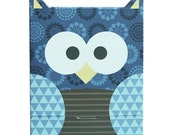 Blue Owl Shaped Cupcake Boxes-Birthday gift boxes.