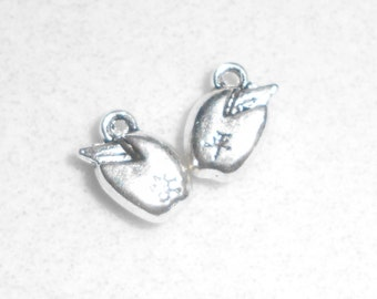Silver Seed Sprout Charms