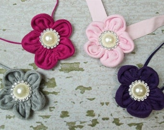 Yo Yo Flower Headband for Photo Shoot. Newborn Headband, Infant Headband, Newborn Photo Prop, Toddler Headband, 6 Color Choices