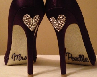 Personalized Wedding shoes with last name