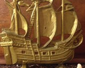 Vintage cast iron sailing ship doorstop