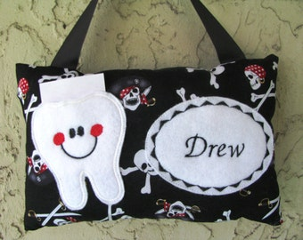 Tooth Fairy Pillow Pirates Personalized Boy Toothfairy