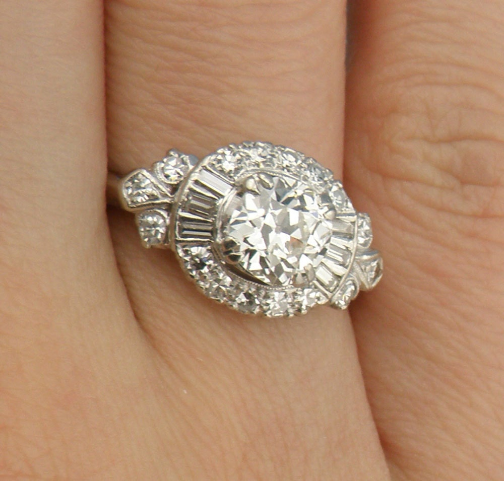 Gorgeous1 75cttw Old Mine Cut Diamond Halo Engagement Ring