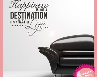 Happiness is a way of life vinyl wall decal sticker
