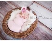 Newborn Wrap Set   Newborn Photography Prop   Baby Wrap Set    Newborn Prop   Baby Headband   Flower Headband   Newborn Photography Set