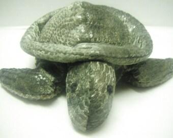 Vintage beanbag sea turtle wet look