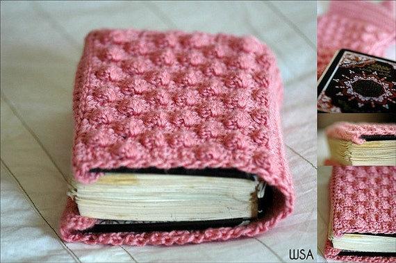 Book Cover Crochet ~ Pattern crochet book cover cozy cozie protector case
