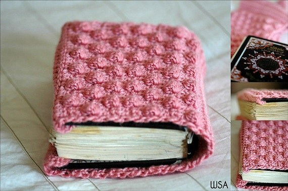 Crochet A Book Cover : Pattern crochet book cover cozy cozie protector case