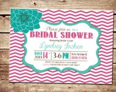 Printable Chevron Bridal Shower Invitation