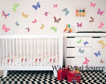 Butterfly Decals - Butterfly Decor - Butterfly Wall Decals - Nursery Wall Decal - Kids Wall Decals - Butterfly Wall Stickers