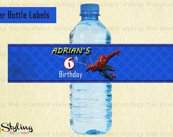 Spiderman Water Bottle Labels