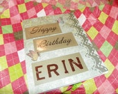 handmade Happy Birthday card for sister, aunt, mother, mother in law, special friend, cousin, etc.