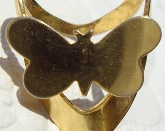 Vintage Butterfly Scarf Loop