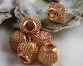 Basketball Wives. 12 Fancy Gold Diamond Mesh Beads for Earrings