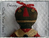 Primitive E pattern Black doll pattern Belindy