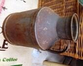 Vintage Tin Hood Milk Jug