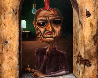 Lowbrow Pop Surrealism original painting by Pete Gorski titled: What a Shame About Me