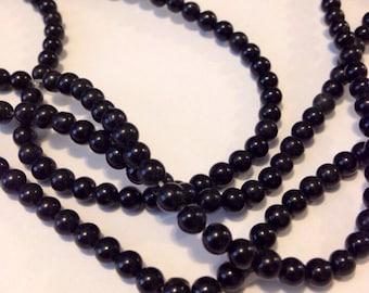 Black Onyx beads 3mm or 4mm