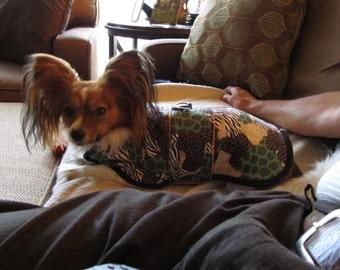 Reversible Hunter Orange Camo Dog coat
