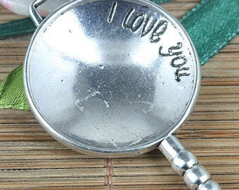 5pcs tibetan silver color Love pattern charms pendant EF0291