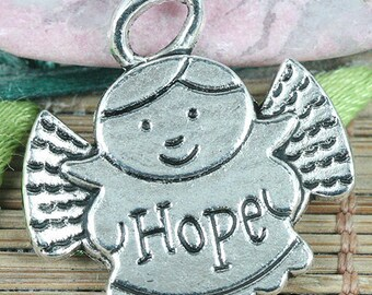 14pcs tibetan silver color Hope angel pendant EF0332
